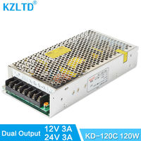 120W 12V 24V Double Output Switch Power Supply Driver AC To DC SMPS Universal Switching Adapter