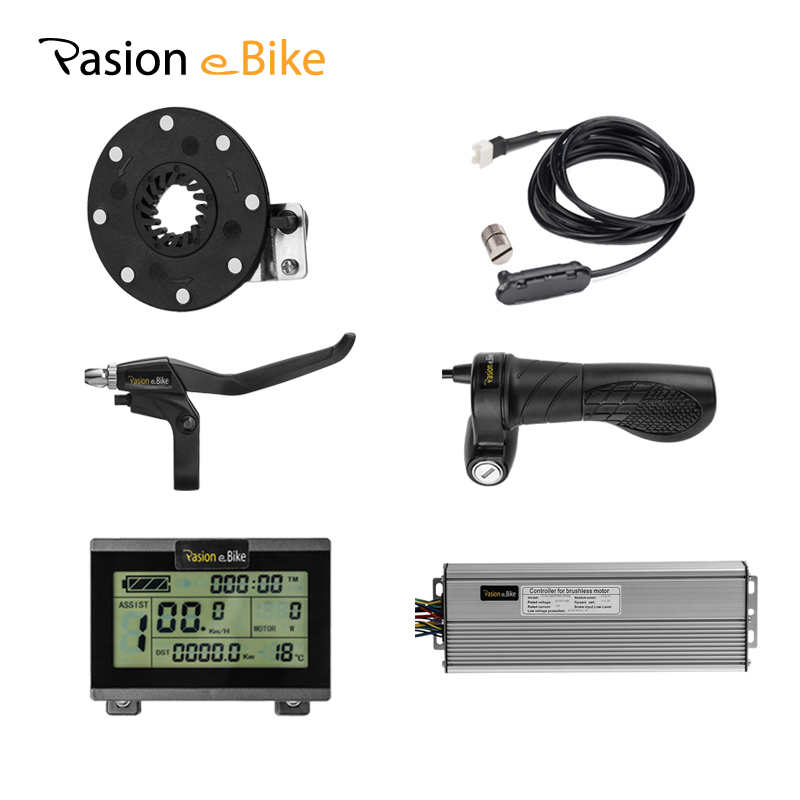 PASION E BIKE 48V 1500W Electric Bicycle Components for 1500W 45A Controller LCD Display Twist Throttle Brake PAS Pedal Assist rockbros titanium ti pedal spindle axle quick release for brompton folding bike bicycle bike parts