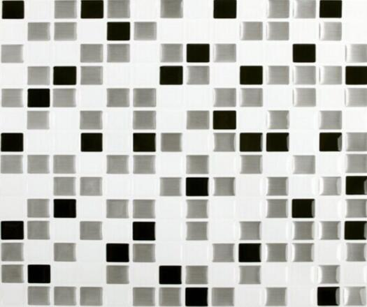Backsplash Tile for Kitchen Marble Square Peel and Stick Tile Adhesive Vinyl Wall Tiles Urban Mosaic 9.8