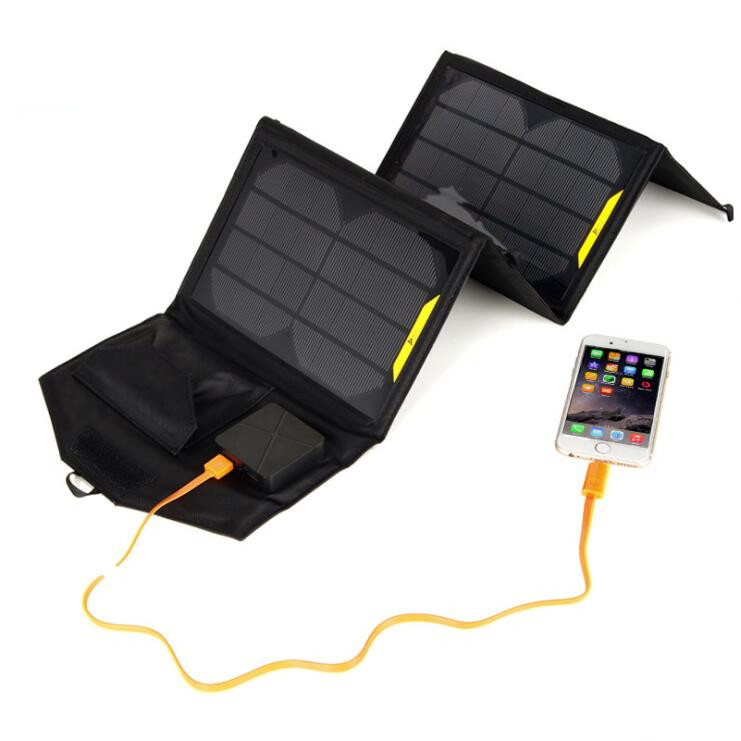 SunPower 15W Solar Panels Portable Folding Foldable Waterproof Solar Panel Charger Power Bank for Phone Battery Charger