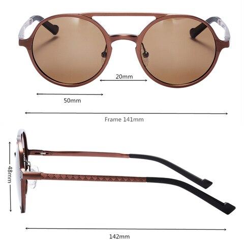 BARCUR Retro Aluminum Magnesium Sunglasses Polarized Vintage Eyewear Accessories Women Sun Glasses Driving Men Round Sunglasses Lahore