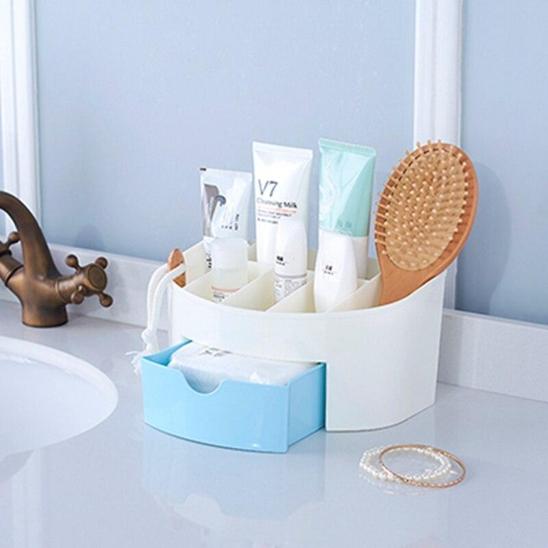 Multi-grid plastic box creative desktop storage box cosmetics remote control holder small objects Container makeup organizer