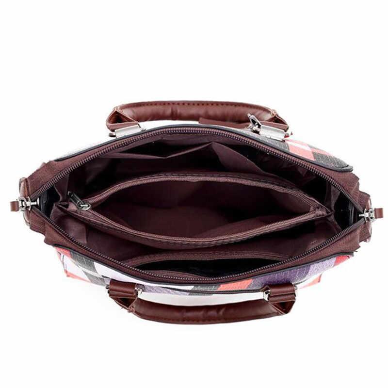 Luxus Handtaschen Plaid Frauen Taschen Designer 2019 Quaste Geldbörsen Handtaschen Set 4 Stück Taschen Verbund Kupplung Weibliche Bolsa Feminina