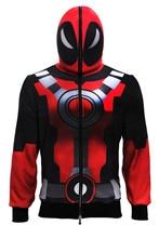 Xcoser Deadpool Hoodie X-Men Cosplay Marvel Deadpool Costume Face Mask Hoodie Adult Clothing Jacket Sportswear Casual Sweatshirt