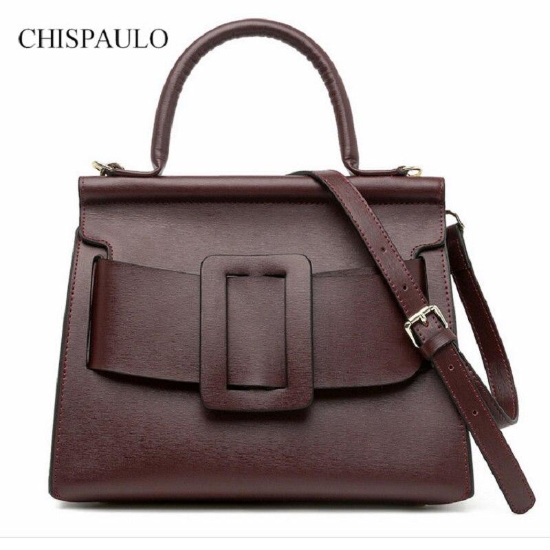 New Fashion Genuine Leather Women Handbag 100% Cow Leather Frmale Luxury Shoulder Bolsas Feminina Famous Brand Crossbody Elegant