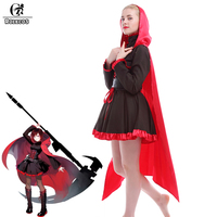Rolecos nuevo anime perucas Cosplay rwby rojo Remolques Ruby Rose Cosplay disfraces uniforme