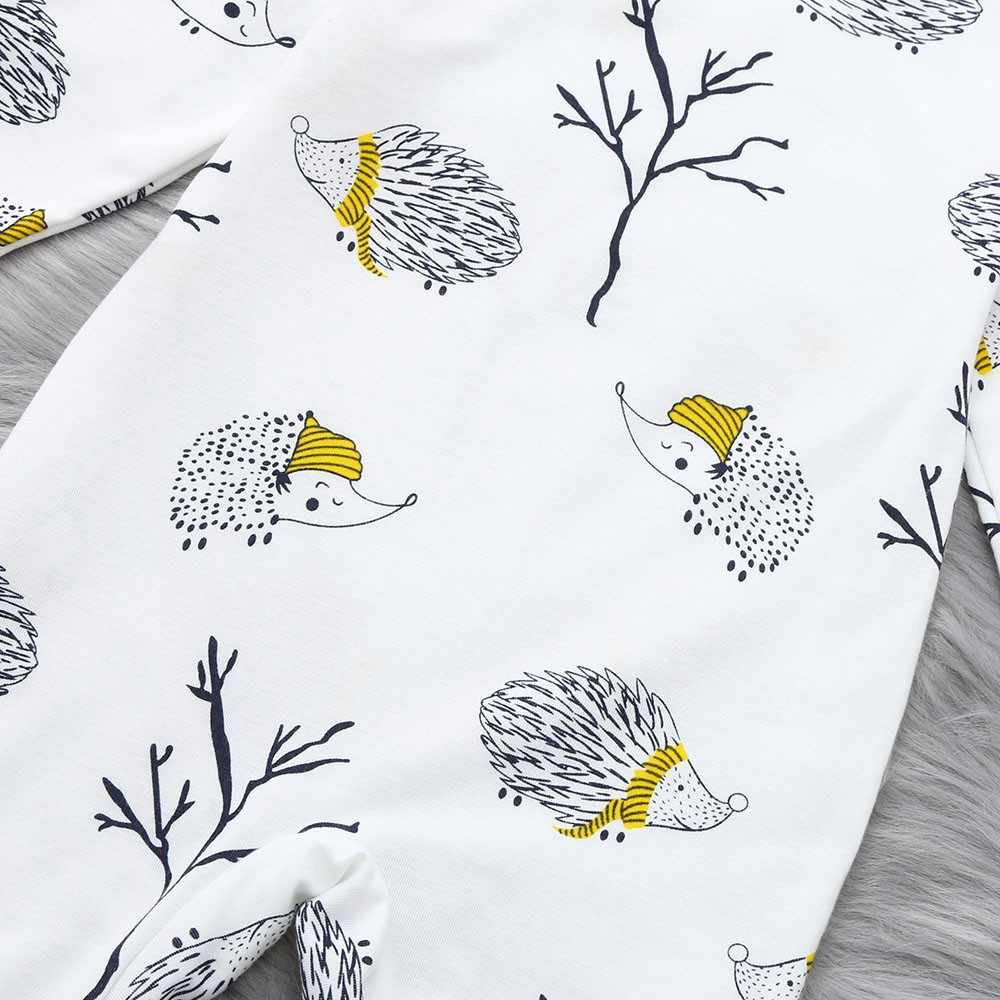 1d42fc1bc ... Trendy Baby Clothing Toddler Newborn Baby Long Sleeved Cartoon Hedgehog  Romper Jumpsuit Clothes Suit for 0 ...