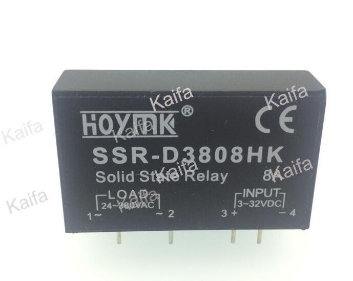 PCB Dedicated with Pins SSR-D3808HK 8A DC-AC Solid State Relay SSR D3808HK smart electronics original solid state relay g3mb 202p dc ac pcb ssr in 5vdc out 240v ac 2a