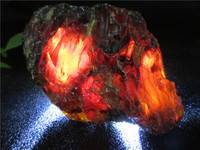 Natural Red Blood Amber Minerals Stones Perot Blood Crystal Rock Specimens Mellite Noneystone Processing of Raw Materials
