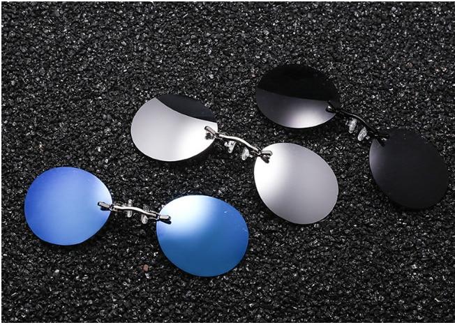 Belight Optical Matrix Morpheus Round Rimless Sunglasses Men Classic Clamp Nose Sun Glasses Mens Mini Frameless Brand Design