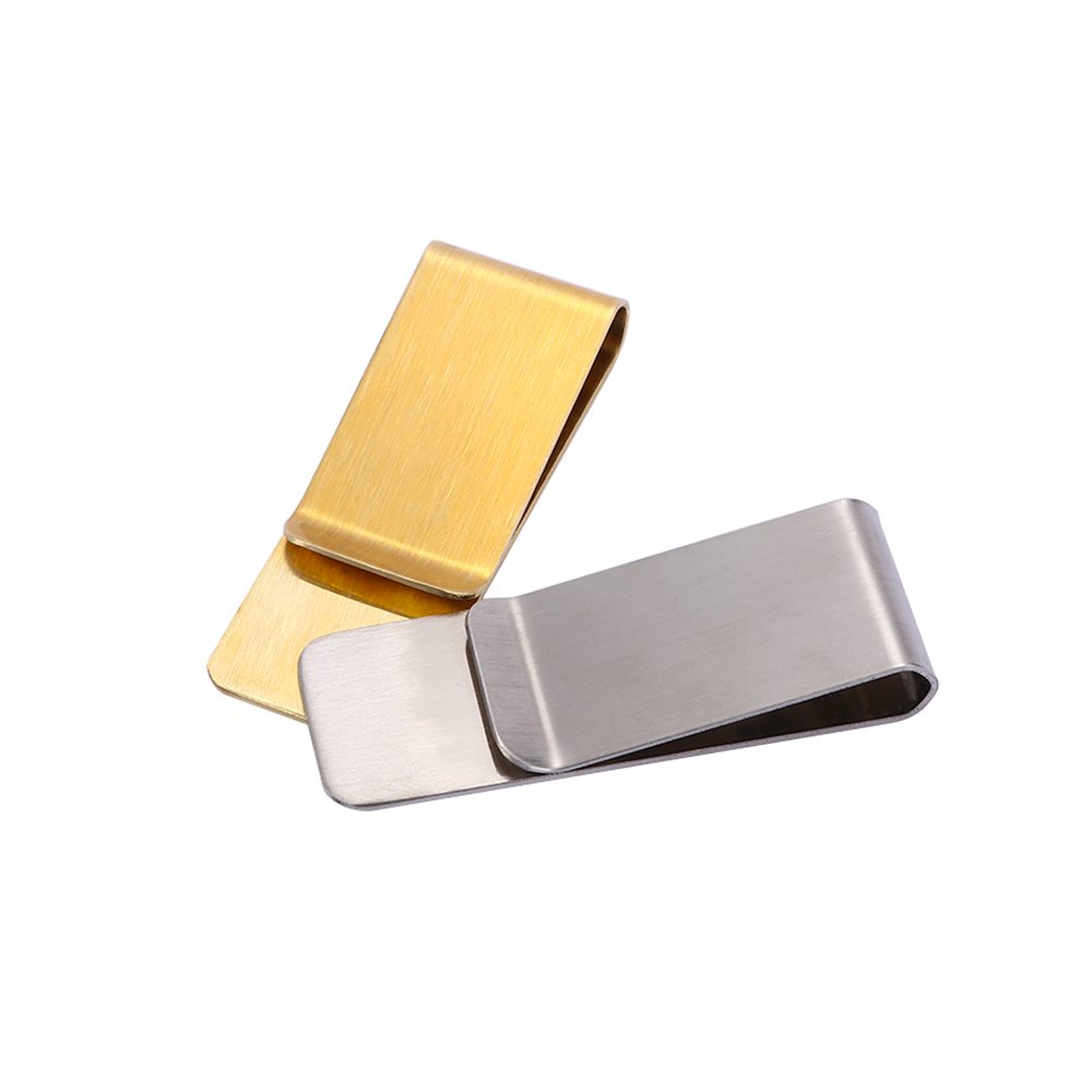 Hot Money Clip Credit ID Card Cash Holder Retro Wallet Stainless Steel Clip