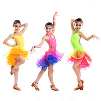 latin dance dress for girls costumes kids clothes ballroom competition dresses fashion leotard sequined cha cha modern salsa