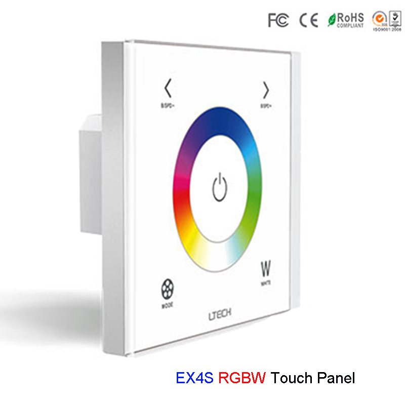 EX4S LTECH Wall Mount RGBW LED Strip Controller AC100V-240V touch panel 2.4GHz and DMX512 Dual 2.4GHz and DMX RGBW controllerEX4S LTECH Wall Mount RGBW LED Strip Controller AC100V-240V touch panel 2.4GHz and DMX512 Dual 2.4GHz and DMX RGBW controller