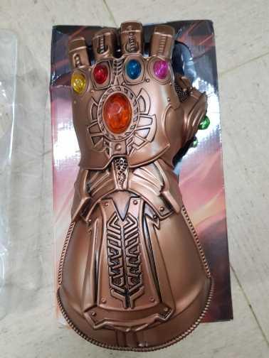 Avengers infinity guerra infinity luvas luvas de pvc luz led gauntlet thanos para festa de halloween evento adereços decoração