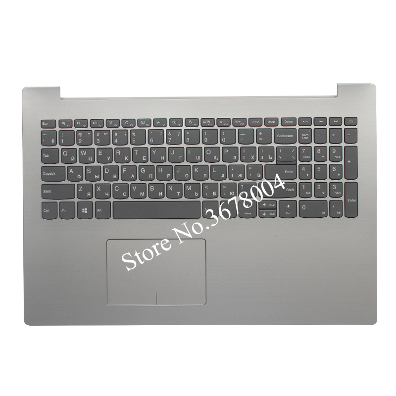 NEW Russian keyboard FOR Lenovo IdeaPad 320-15 320-15IAP 320-15AST 320-15IKB RU keyboard with silver Palmrest COVER