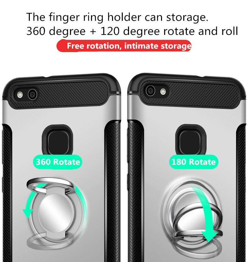 Olaf Untuk Huawei P10 Lite kasus Robot Armor Cincin Kickstand Karet - Aksesori dan suku cadang ponsel - Foto 3