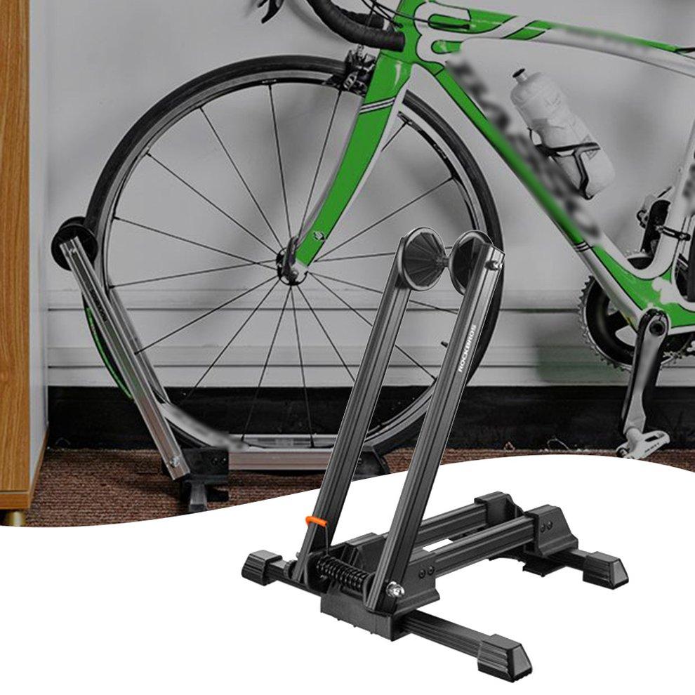 Mini Bicycle Floor Stand Folding Display Rack Mountain Parking Garage Holder