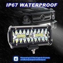 7 дюймов 120 Вт 13200LM светодио дный светодиодный свет бар светодио дный водостойкий светодиодный рабочий свет Прожектор противотуманная фара для внедорожного грузовика автомобиля внедорожник лодка