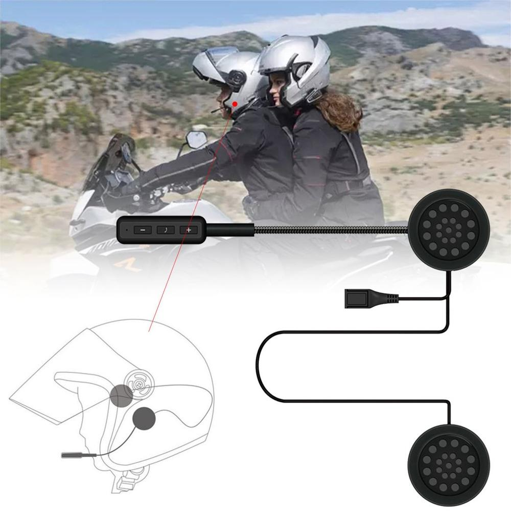 MH01 Motorcycle Helmet Headset Automatically Answer Anti-interference For Guide Hands Headphone Free