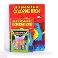 Frete Grátis Tamanho Grande Engraçado Livro de Colorir Livros Comédia Mágica Close-up de Rua Truques de Mágica Spellbook Grimoire Enigma Criança brinquedo