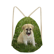 New Arrival Anatolian Shepherd Dog Lover Custom Drawstring Bag for Boys Girls DailyPack Pocket Bags Small School Mochila Escolar