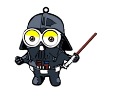 Minion Star Wars Darth Vader 2-sided Keychain