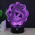 HY abstract 18 3D Remote LED Night Light Touch Table Desk Lamp 7 Color Change USB LED Charger Gift Multifunction Card