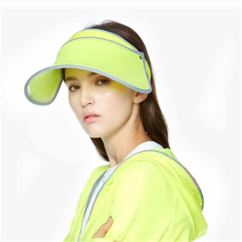 Women Sports Sun Caps Female Adjustable Polyester Visor UV Protection Top Empty Caps Ladies Tennis Golf Running Sunscreen Hats