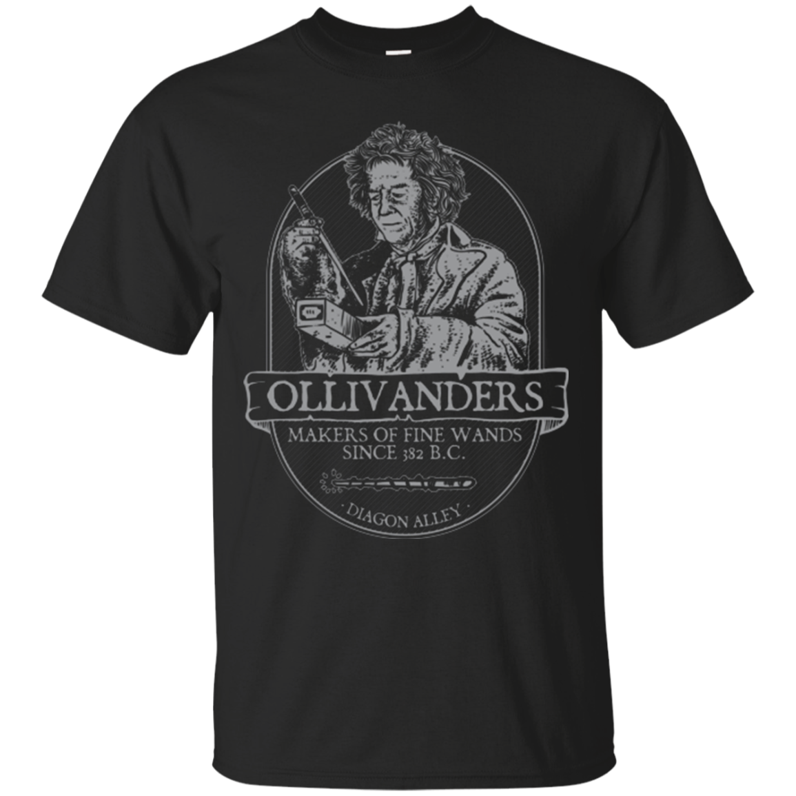 Printed Men T Shirt Cotton tshirt Ollivanders Fine Wands O-Neck Short-Sleeve Women T-Shirt