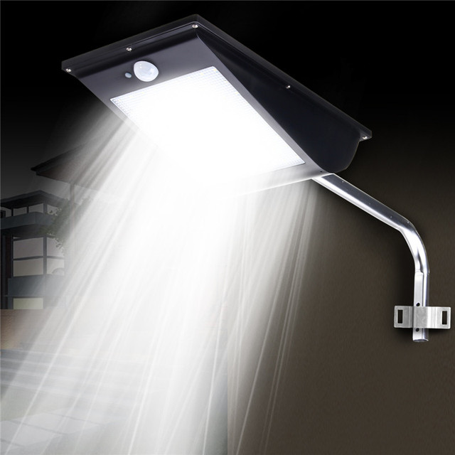 mising 81 led solar light outdoor garden lighting motion sensor