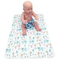 Fralda do bebê Mudar Pads Newbown Infantil À Prova D' Água Trocador Capa Lavável Reutilizável Fralda Viagem Mat Tamanho: 70 cm x 50 cm