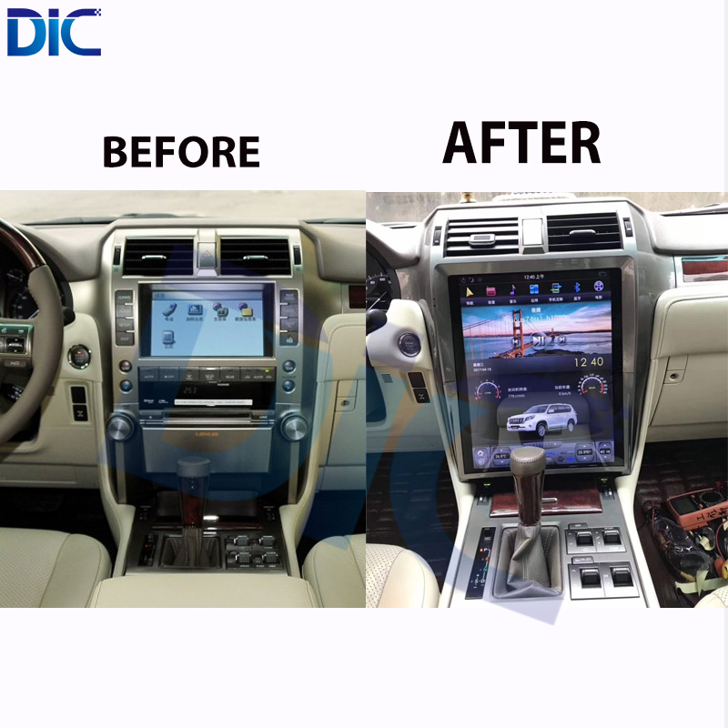 DLC Android System Navigation GPS Car Player Video 15 Inch Auto Radio Steering-Wheel Bluetooth For Lexus GX400 GX460 2014-2017