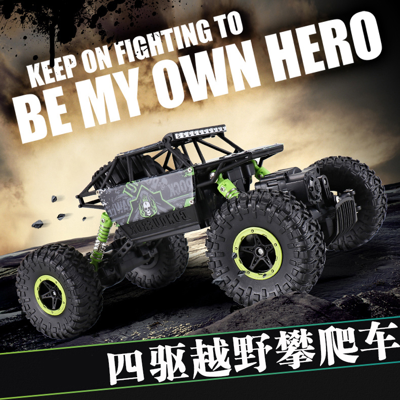 Electric RC Car 2.4G 4CH 4WD Rock Crawlers Climbing Car Double Motor Drive Bigfoot Car Remote Control Model Off-Road Vehicle Toy wall climbing car electric remote