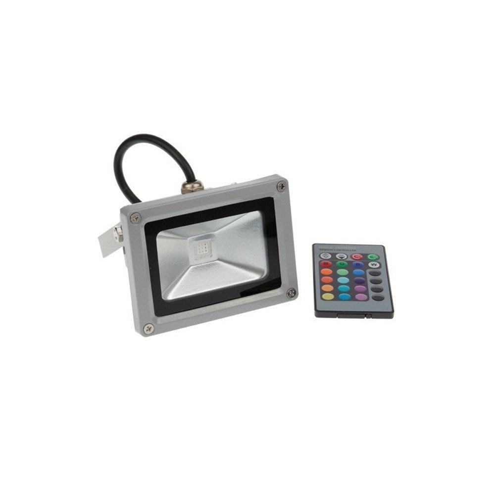 RGB LED Flood Light 10W Foco LED Exterior Spotlight IP65 LED Outdoor Light Reflector Spot Floodlight Remote Control