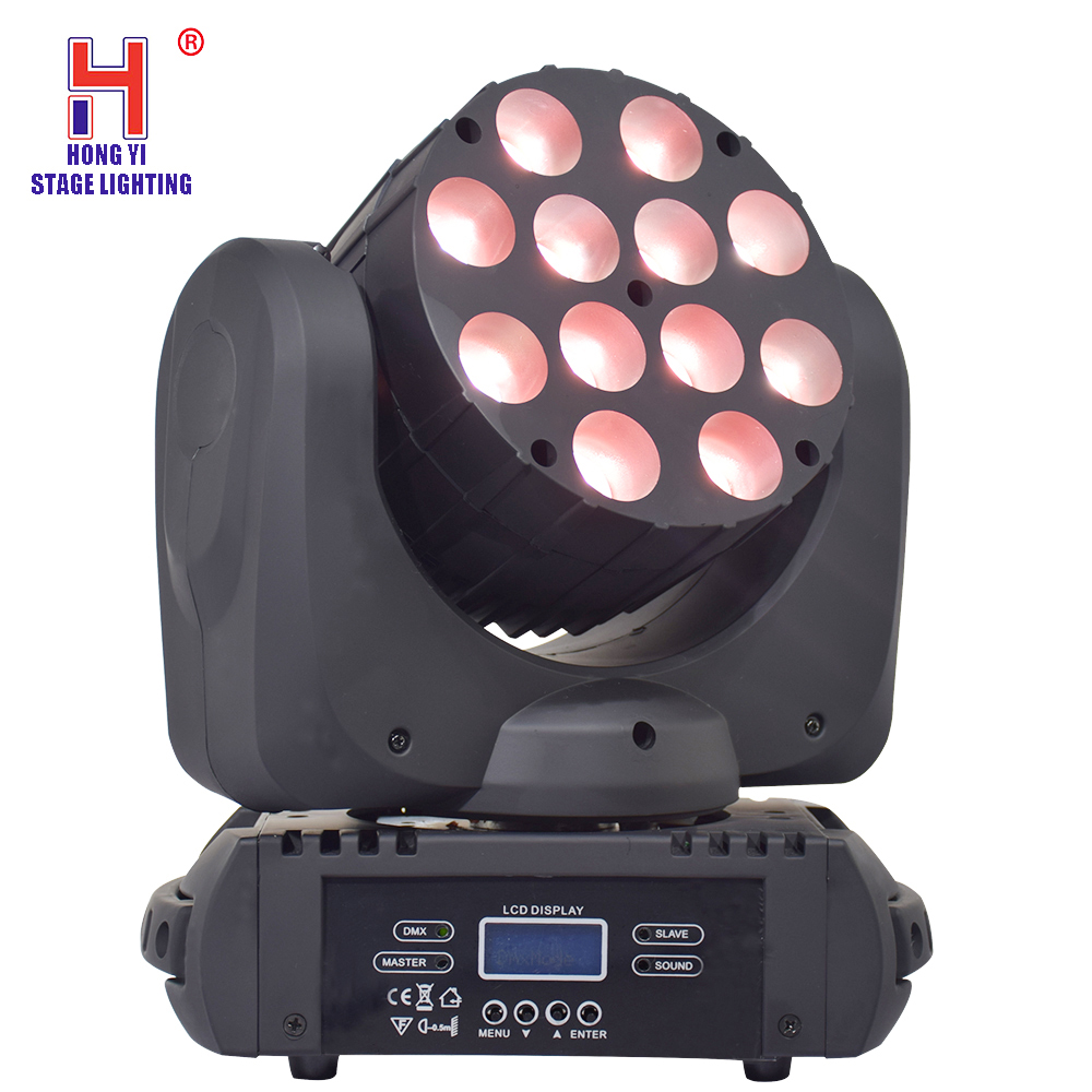 Stage Lighting Effect Lights & Lighting Impartial Led Beam Spot Dj Light 12 Leds Moving Head Rgbw 4in1dmx512 For Christmas Birthday Home Garden Party Effect Firm In Structure