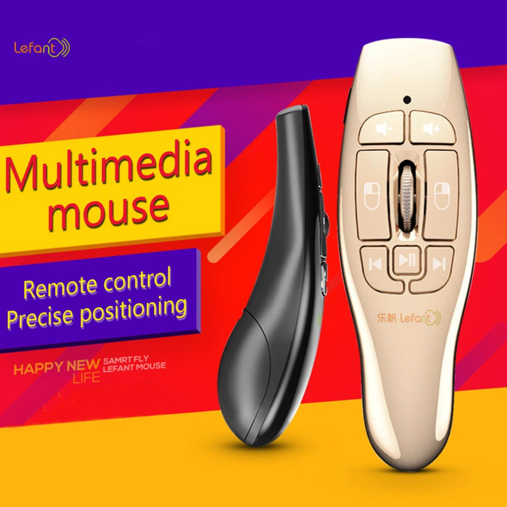 Lefant 2.4GHz Mini Wireless Air Flying Mouse Multimedia Somatosensory Remote Control USB Mouse with 8 Keys Dropshipping air swimmers helium remote control flying shark