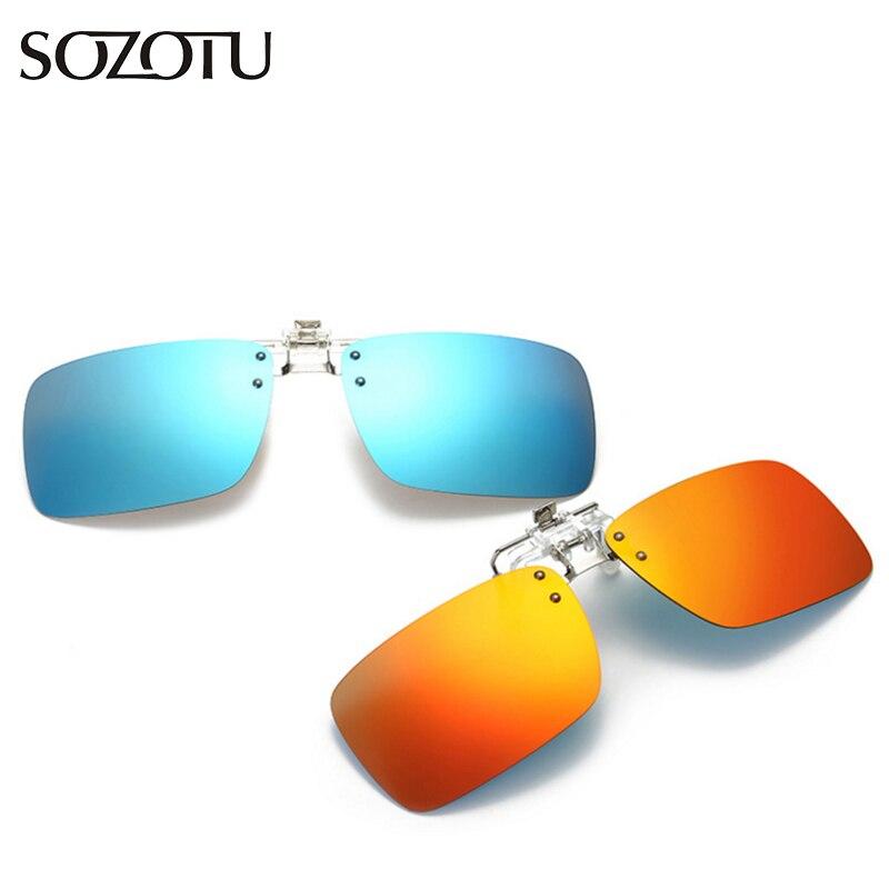 ee54fe028b98b Moda Clip Sobre Óculos Polarizados Óculos De Sol Das Mulheres Lente de  Visão Noturna Motorista Óculos