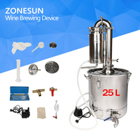 ZONESUN Houshold Stainless Steel Home Wine Brewing Device 25L Alcohol Distiller/Wine Maker English Manual+11 Gifts