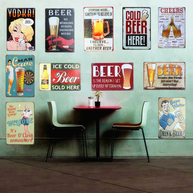 Everyone Needs Cold BEER Vintage Metal Tin Signs Home Bar PUB Decor Club Decorative BEER Plate Metal Painting Christmas GIF A118