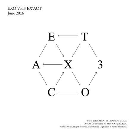 EXO 3RD ALBUM  Korean Version 1 Random Cover Release Date 2016.06.10  KPOP exo 4th album repackage the war the power of music chinese ver korean ver 2 version set release date 2017 09 06