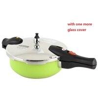 Скороварка 3 литра высокого качества для приготовления пищи горшок тушеная кастрюля кухонная утварь зеленое покрытие