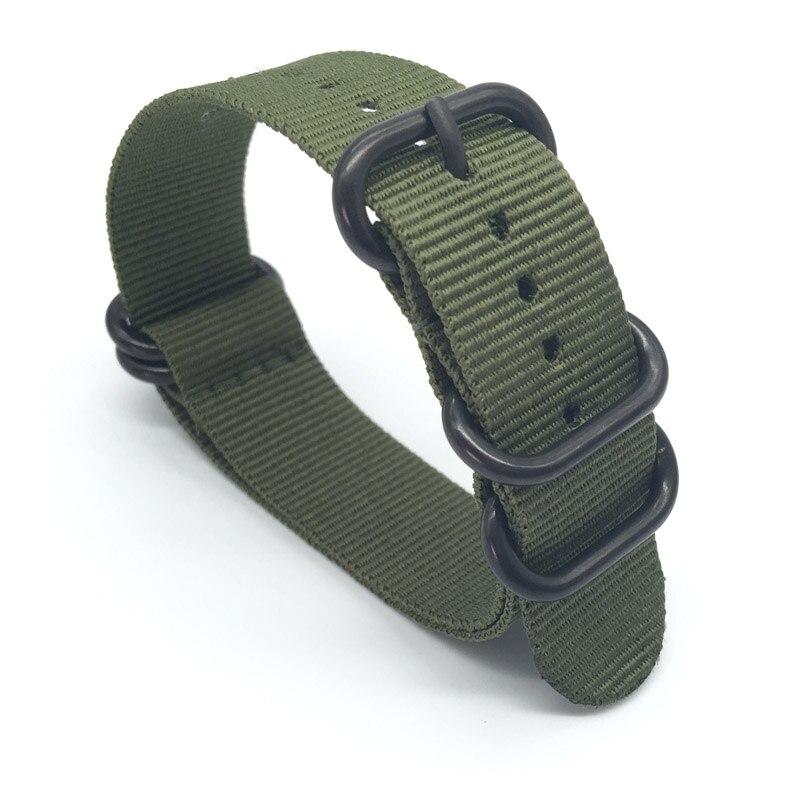 20 22 24mm Solide armband Armee Grün Military nato stoff Nylon Uhr uhrenarmbänder Woven Zulu Riemen Bands Schwarz Schnalle gürtel 20mm
