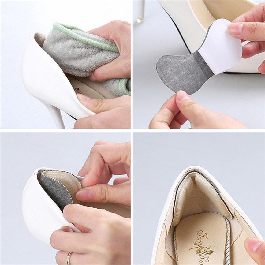 2pair//lot Cloth Foot Care Cushion High Heel Insoles Anti-Slip Half Shoe Pads YT