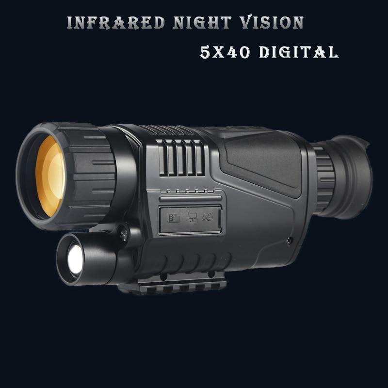 ZIYOUHU 5 x 40 Digital Night Vision Scope Monocular 200m Range Video DVR Imagers Camera Device for Hunting Scope