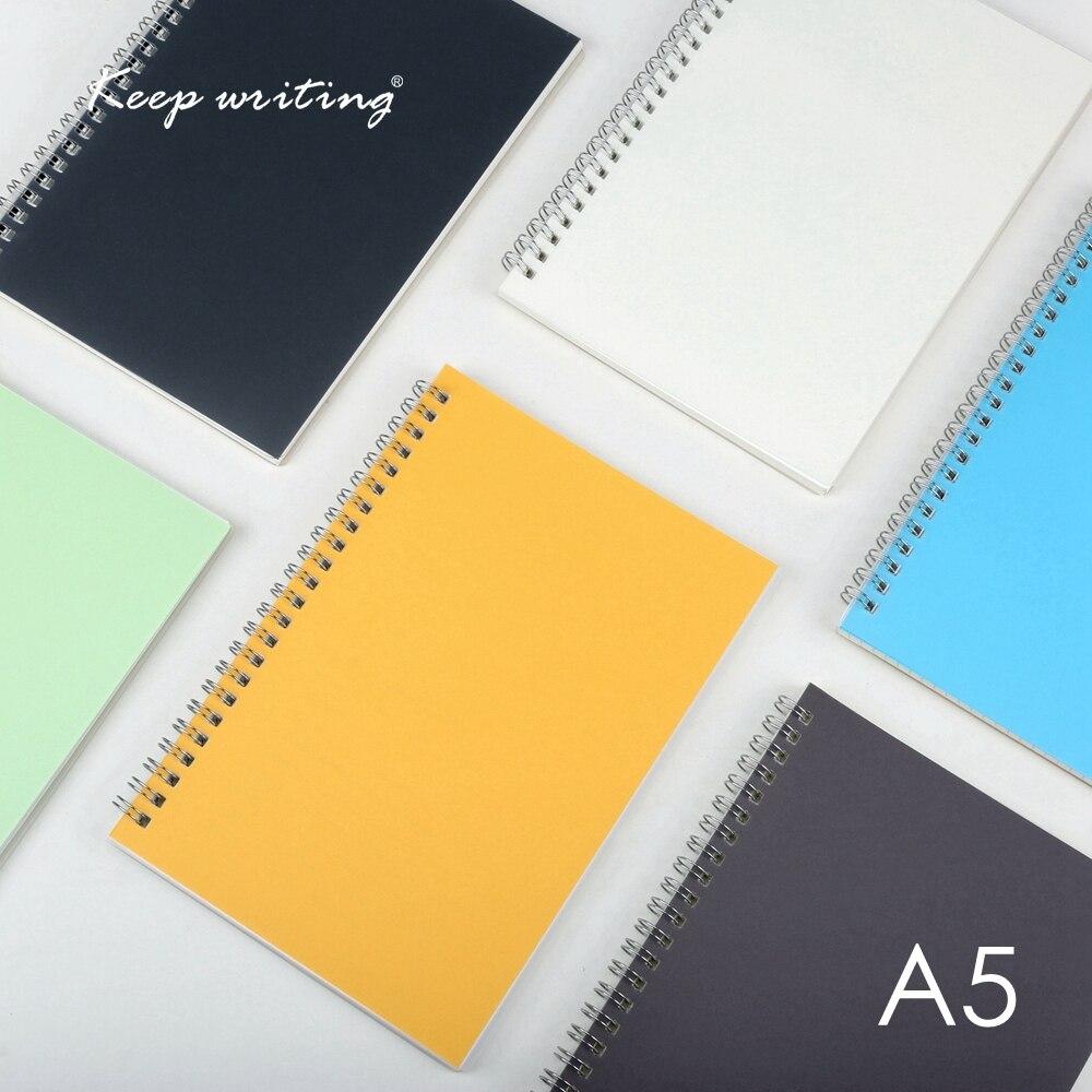 A5 espiral libro 50 hojas bobina cuaderno punto rejilla en blanco de papel de puntos Diario La escuela suministros papelería espiral diario