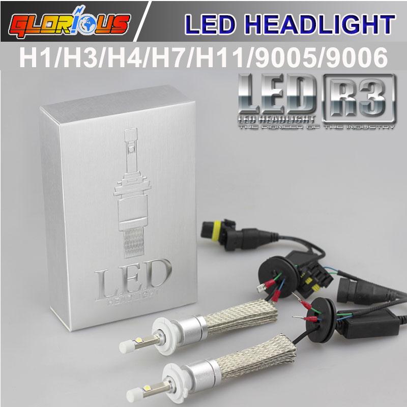 Prix pour H7 LED De Voiture style Phare H1 H3 H4 H11 9005 9006 5202 80 W 9600LM xenon blanc 6000 K Auto Avant Ampoule Auto Phare De Voiture éclairage