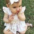 Малыша Дети Dress для Девочек Свадебное шею рукавов Партия Спинки Цветочные хлопок Винтаж Туту Платья один штук