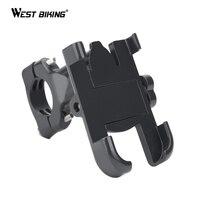 WEST BIKING Universal Bike Phone Holder Cycling Handlebar Clip Anti Slip Motorcycle Bicycle Cellphone Support Mount