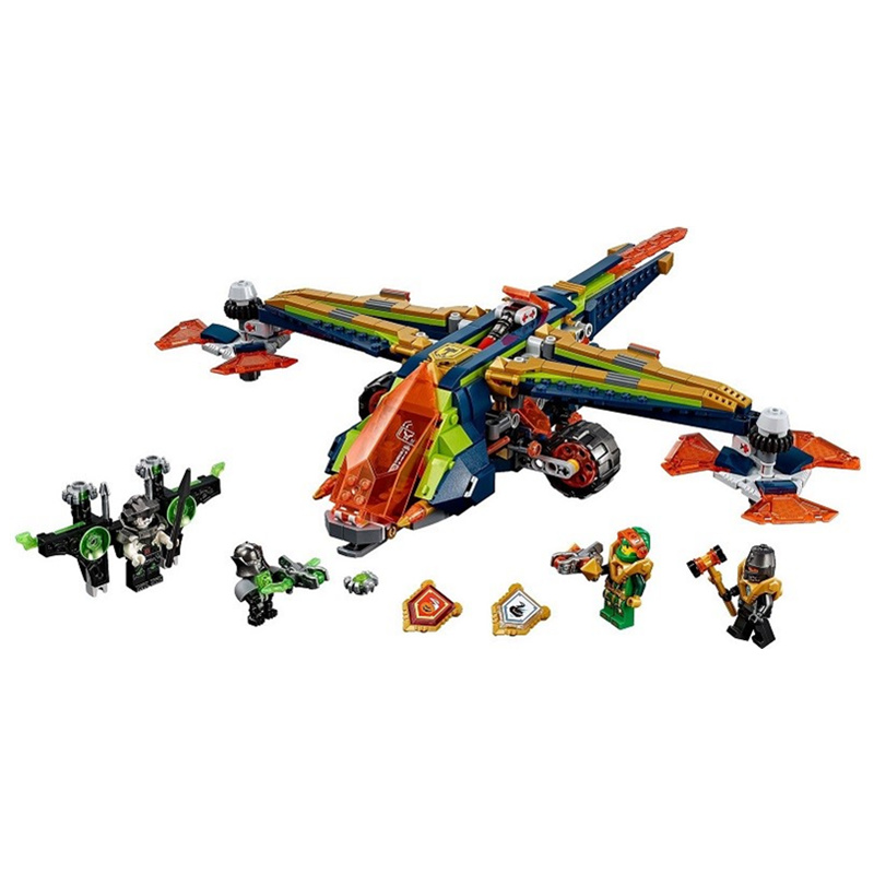 New action knight series double fighter Building Blocks Bricks Toys Compatible LegoINGly Nexus Knights Children Model Gifts lepin 14025 nexus knight 110pcs king s guard artillery model building blocks bricks set figures kid toys compatible 70347