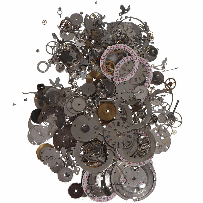 Cymii 50g One Package Watch Scrap Different Parts DIY Materials Art Accessories Watch Repair Tools Kits Parts